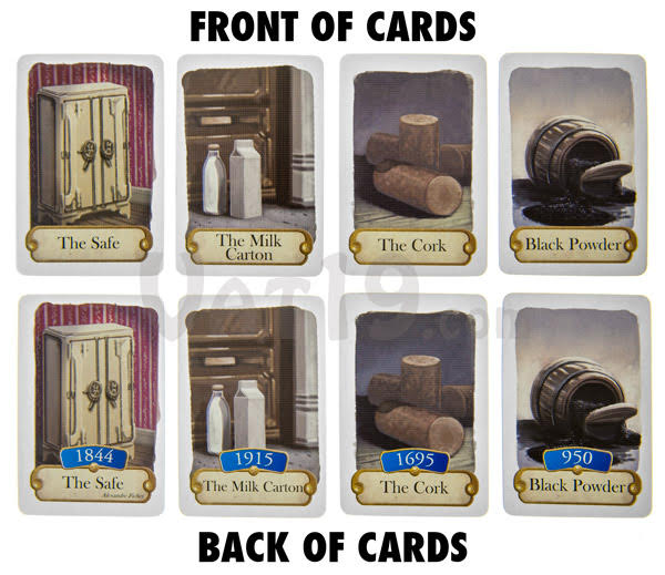 Cards from Timeline published by Asmodee